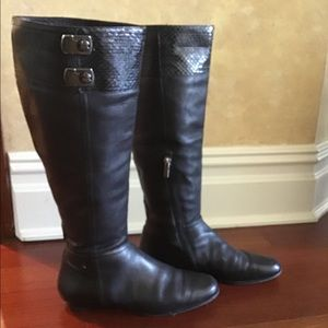 Jimmy Choo Snake Trim Leather boots